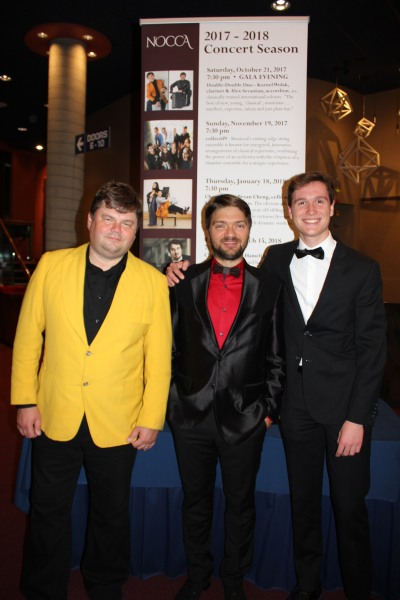 Left to right - Alexander Sevastien, Kornel Wolak and Christopher Dlouhy