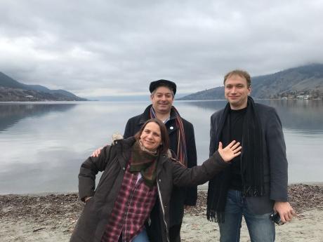 Trio D'Argento visiting Okanagan Lake, Vernon BC